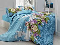 Комплект постельного белья евро 200х220  Gokay Ranforce Rana