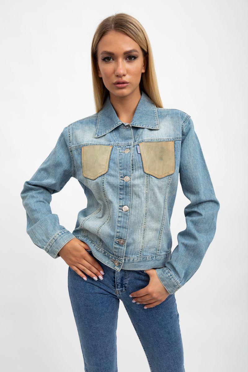 Джинсовая куртка жен 123R2635 цвет Голубой