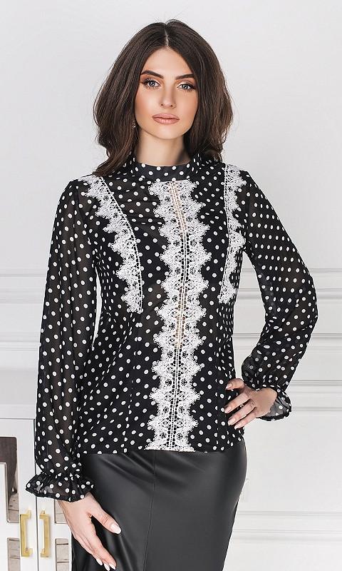 Блуза 53087/2 42/44 черный