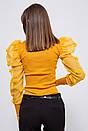 Блуза женская 123R18750 цвет Горчичный, фото 3