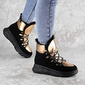 Ботинки женские зимние Fashion Taddle 2219 36 размер 23 см Черный
