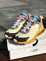 Nike Air Max 270 react Eng travis Skott trails бежевий цвет мужские кросовки, фото 1
