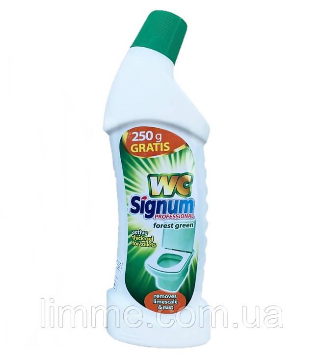 Миючий засіб для туалету WC Signum Professional forest green 750 мл (зелений ліс)
