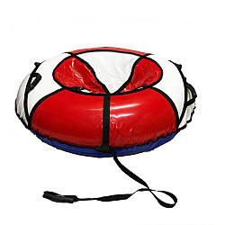 Тюбинг надувные санкиватрушка d120 см серия Прокат Усиленная Бело - Красного цвета для детей и взрослых