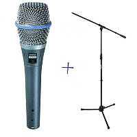 Конденсаторный микрофон студийного качества SHURE BETA 87A+ Штатив