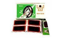 Латки велосипедные/камерные прямоугольные маленькие Kelb.Bike Red Sun RS-4803 (латки+клей)