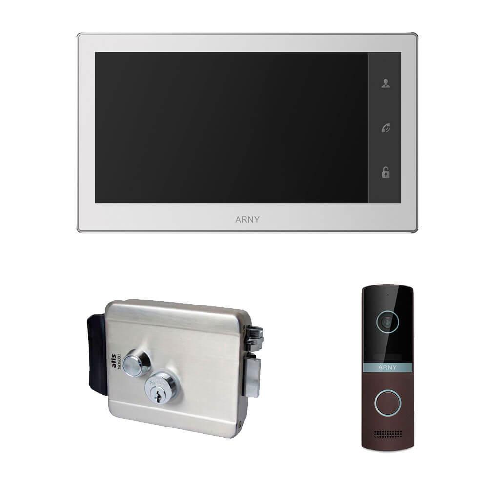 Комплект відеодомофона ARNY AVD-740 2MPX + AVP-NG230 2MPX з вуличним електромеханічним замком ATIS