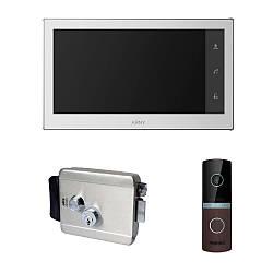 Комплект видеодомофона ARNY AVD-740 2MPX + AVP-NG230 2MPX с уличным электромеханическим замком ATIS