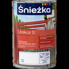 Грунтовочная антикоррозийная краска для металла Sniezka UREKOR S БЕЛЫЙ 1л (PL)