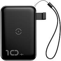 Внешний аккумулятор Power Bank с беспроводной зарядкой Baseus Mini S 10000mAh Black (PPXFF10W-01)