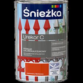 Антикоррозийная грунтовка  Sniezka UREKOR S для стальных и чугунных поверхностей БЛЕДНО КРАСНЫЙ   1л (PL)