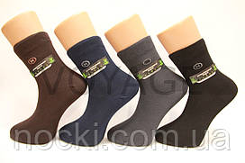 Чоловічі шкарпетки середні стрейчеві,кеттельний шов,200 Мontebello 41-44 темні асорті