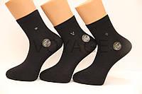 Чоловічі шкарпетки середні стрейчеві з бамбука100% Ф15 41-44 чорний