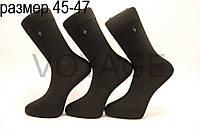 Чоловічі шкарпетки високі стрейчеві з бавовни,кеттельний шов Style Luxe 45-47 чорний