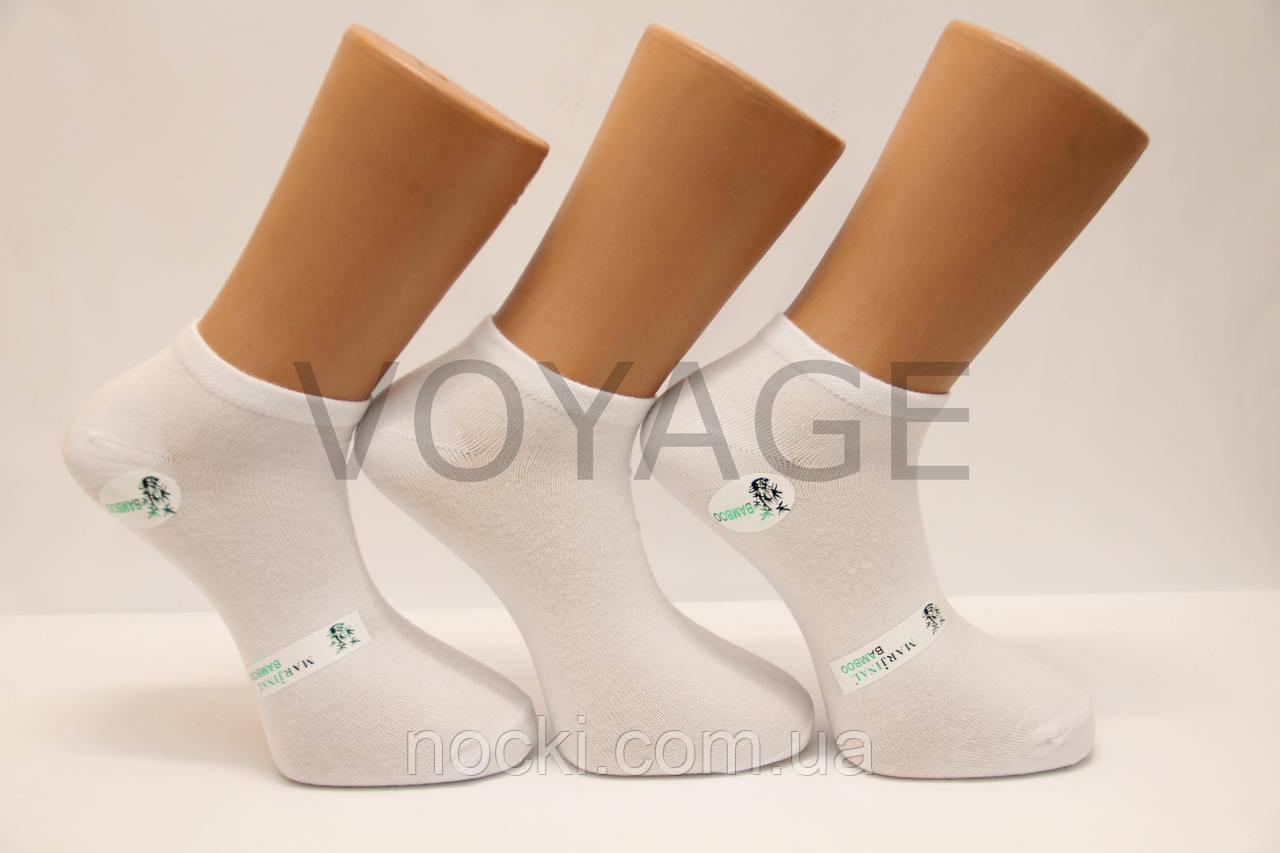 Мужские носки короткие с бамбука Маржинал 40-45 белый