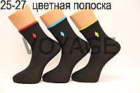 Чоловічі шкарпетки середні-з бавовни 200 СЛ НЛ 25-27 кольорова смужка
