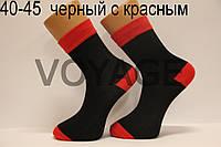 Носки стрейчевые с рисунком НЛ 40-45  черный с красным