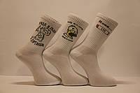 Мужские носки средние ТЕННИС НЛ с надписями 40-45 белый м-1 Дартаньян