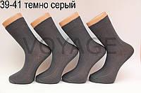Мужские носки высокие с хлопка ЖИТОМИР 100% 39-41 темно серый