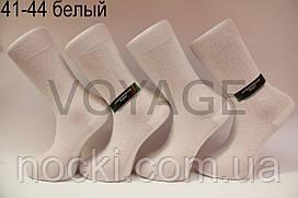 Чоловічі високі шкарпетки з бавовни,кеттельний шов,посилені п'ята і носок МОНТЕКС 41-44 білий