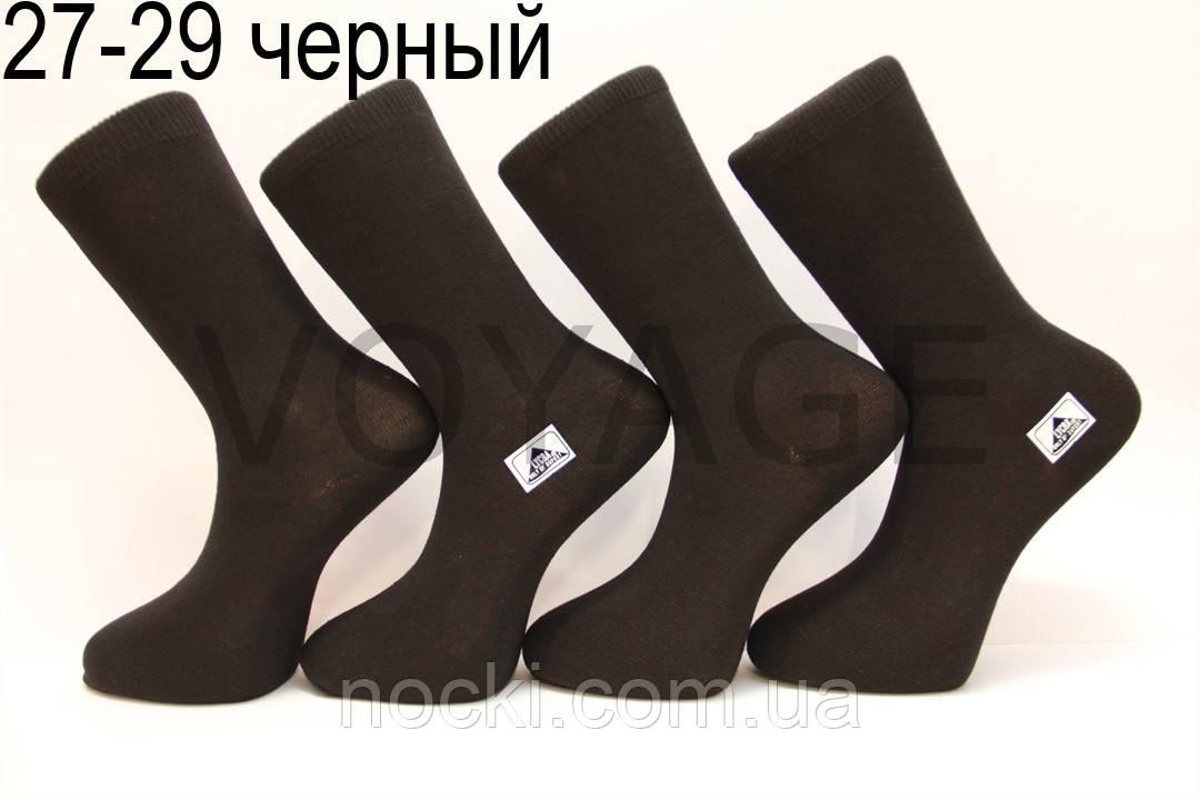 Мужские носки высокие стрейчевые демисезонные СТИЛЬ 27-29 черный