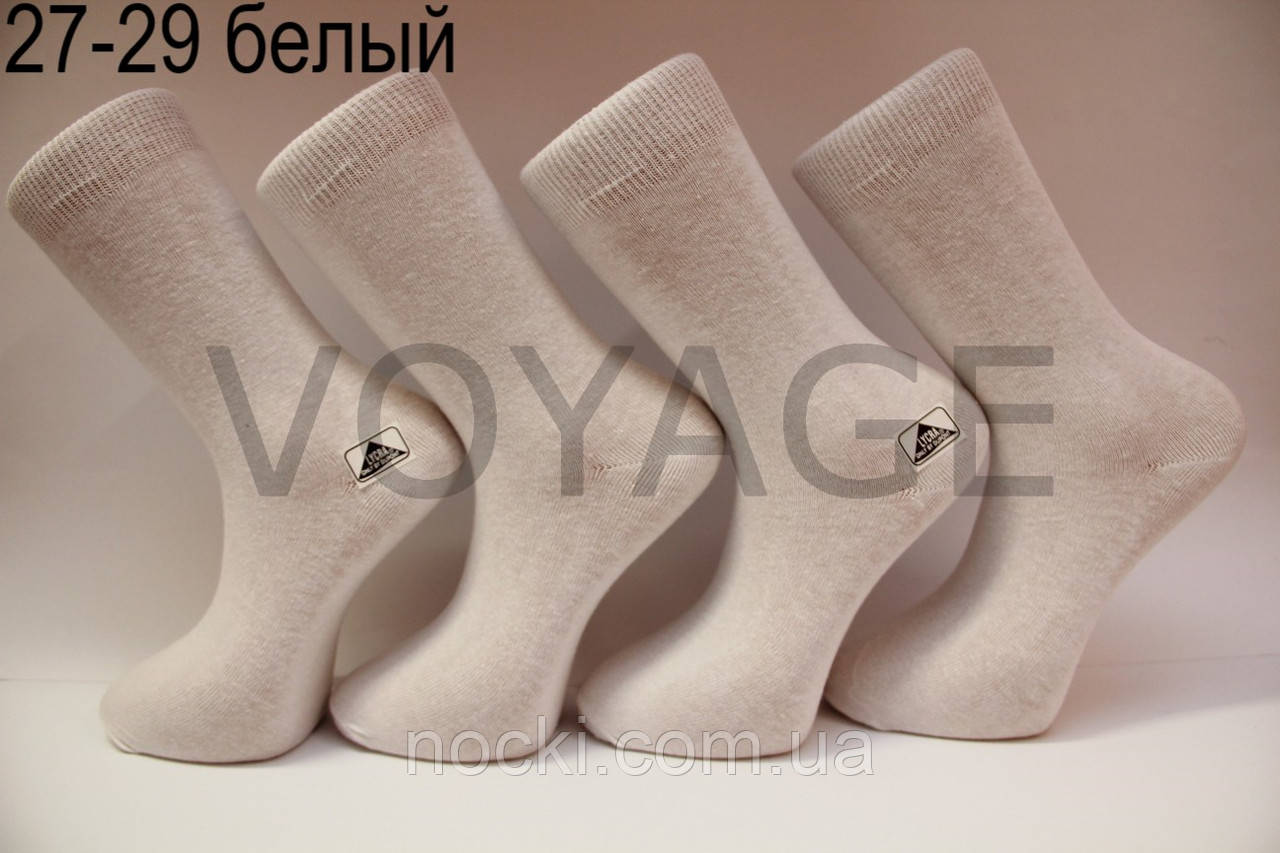 Мужские носки высокие стрейчевые  СТИЛЬ 27-29 белый