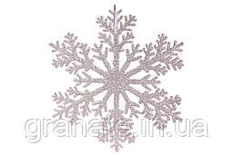 Новогодние Снежинки 30 см (45 шт) розовый