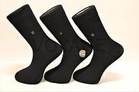 Мужские носки высокие стрейчевые с бамбука100% BYT (Ф15) 41-44 черный гладкие