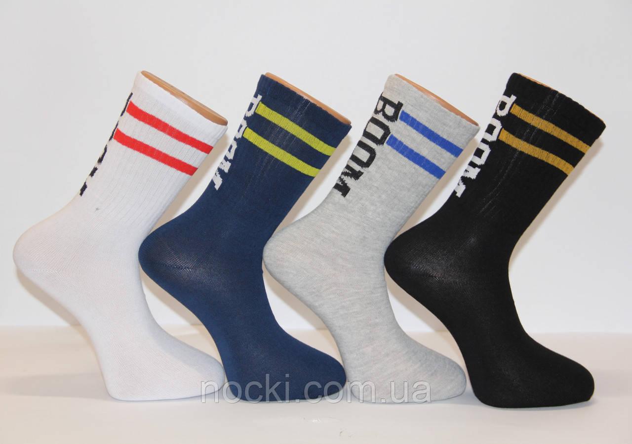 Мужские носки высокие стрейчевые ТЕННИС MONTEBELLO Ф3 ассорти BOOM