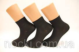 Чоловічі шкарпетки середні стрейчеві з бамбука НЕЖО Ф14 40-44 чорний
