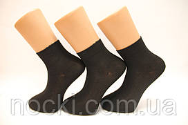 Мужские носки средние стрейчевые с бамбука НЕЖО Ф14 40-44 черный