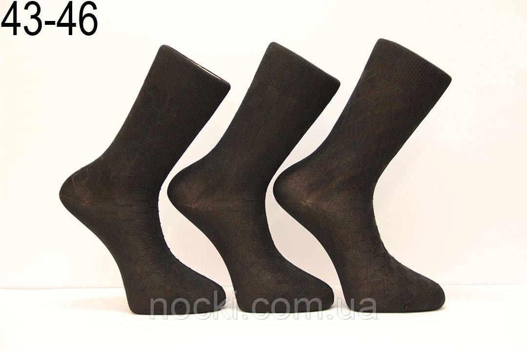 Мужские носки высокие с шелка DILEK 43-46 черный