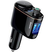 FM модулятор + зарядка 2 USB Baseus Locomotive Bluetooth MP3 Vehicle (CCALL-RH01) Black
