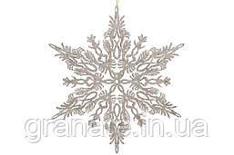 Новогодний декор Снежинка, 20см, цвет- золотой, 12шт