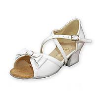 Туфли для бальных танцев ClubDance Б-4 белый лак