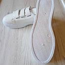 Белые кеды на липучках женские білі кеди жіночі, фото 5