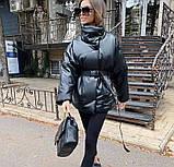Куртка женская эко кожа весна-осень  42-44 44-46 рр., фото 4