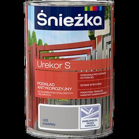 Антикоррозийная грунтовка Sniezka UREKOR S для стальных и чугунных поверхностей пепельный 1л (PL)