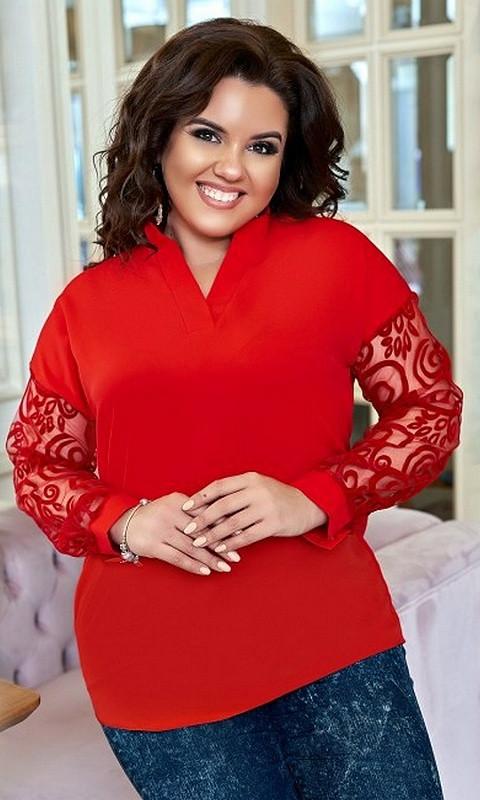 Блуза 852517/5 50/52 красный