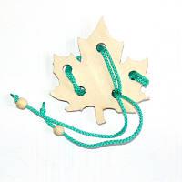 Головоломка веревочная Кленовый лист, фото 1