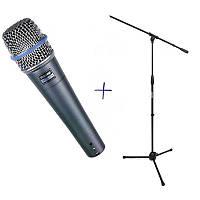 Конденсаторный микрофон студийного качества Shure BETA 57A+Штатив