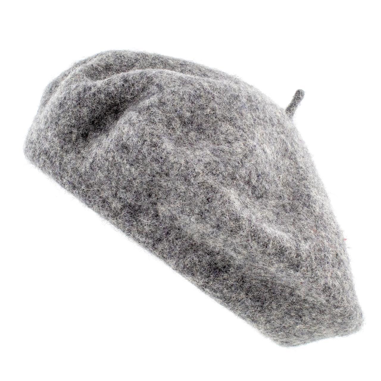 Берет женский Marmilen   Кашемир темно серый меланжевый  ( FC001-04 m )