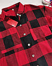 Женская теплая рубашка в клетку красная, фото 2