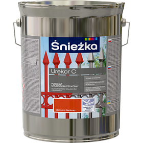 Sniezka UREKOR S - бледно-красная - антикоррозионный грунт для стальных и чугунных. элементов 2.5л