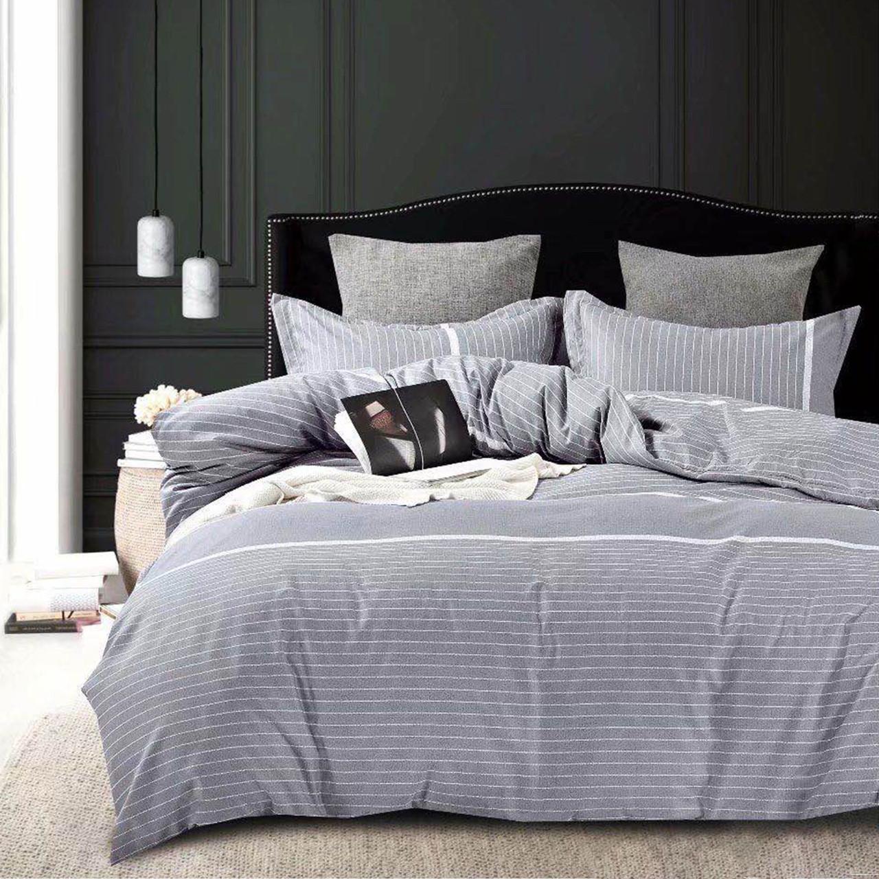 Полосатое серое постельное белье серый комплект постельного белья Полоска