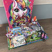 Игровой набор для девочек Pony Land 7 в 1 развивающая настольная игра подарочный творчества детский