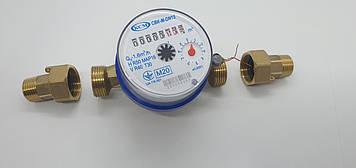Счетчик холодной воды одноструйный крыльчатый СВК-М-DN15