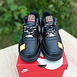 Чоловічі кросівки Nike Air Force 1 x Off-White Low Just Do It Pack (чорні) 10266, фото 2