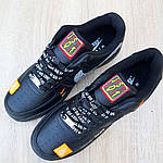 Чоловічі кросівки Nike Air Force 1 x Off-White Low Just Do It Pack (чорні) 10266, фото 4