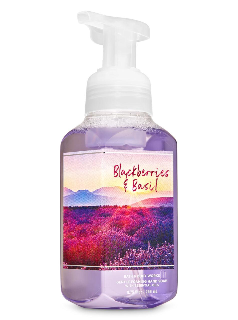 Жидкое мыло-пенка для рук Bath and Body Works BLACKBERRY BASIL Gentle Foaming Hand Soap 259 мл с дозатором